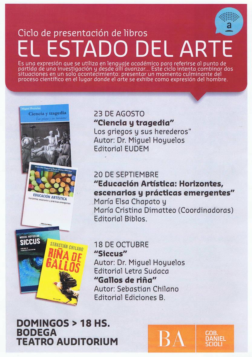 """Presentación del libro """"Ciencia y tragedia, los griegos y sus herederos"""" Domingo 23 de Agosto 18hs en la Bodega del Teatro Auditorium"""